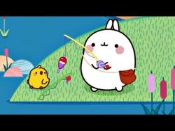 Мультсериал для детей Моланг. 10 серия: РЫБАЛКА. Прикольные мультики для детей.