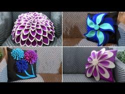 5 идей декоративных подушек из фетра