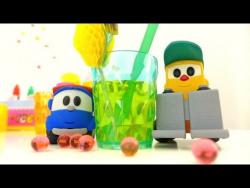 Развивающее видео: Грузик, Лева и Мася делают лимонад и компот. Видео с игрушками.