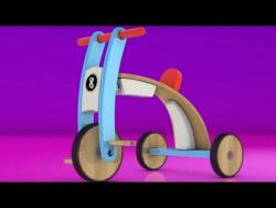 Развивающий мультфильм для детей. Яйцо с сюрпризом: велосипед. Видеоигра.