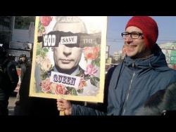 Митинг в Германии в поддержку России и Путина