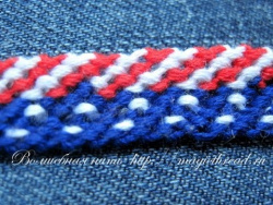 Как плести фенечки по схеме - 2 часть friendship bracelet «4th of July»