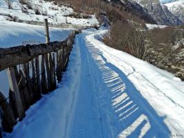 Деревянный забор из Сванетии