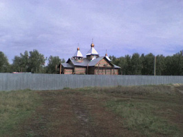 Установка куполов на нашем строящемся храме