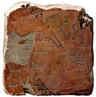 Глиняная табличка. Изображение: географическая карта древней Месопотамии. 2400 - 2200 до н.э.