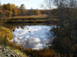 Природные зеркала отражают красоту осени
