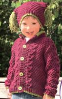 Детский жакет и шапочка.
