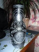 Бутылка в технике пейп - арт