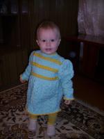 Настенька в новом платье...