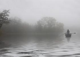 Утром на пруду .