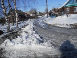 Поворот с ул. 30 лет Победы на переулок Авиационный.