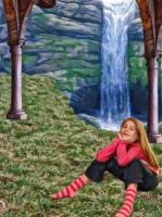 Аня у водопада