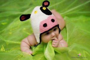 шапочка коровка