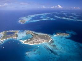 Aerial View of Archipelago Los Roques, Venezuela