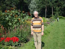 Ваш покорный слуга в ботаническом саду в августе 2011 года