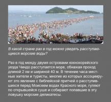 Расступающиеся морские воды