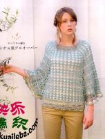Пончо-пуловер