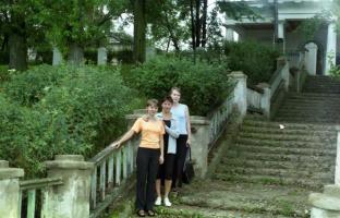 Лестница к Волге от речного вокзала. Лето 1996.