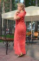 вязаное платье любого размера