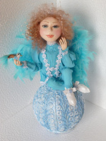 интерьерная кукла Ангел.техника многослойное папье-маше