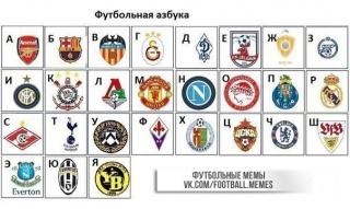 Футбольная азбука.
