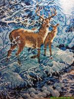 Олени в снежном лесу.автор:Юлия(администратор)