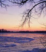 На закате дня у Днепра.