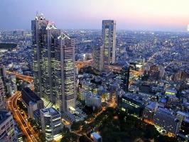 Панорама вечернего Токио