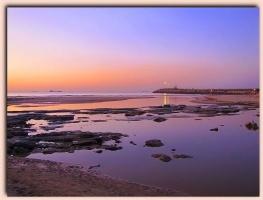 Место слияния речки и моря