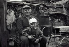 Дедушка и внук.Июнь 1990 года.