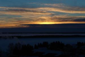 Закат над Обью