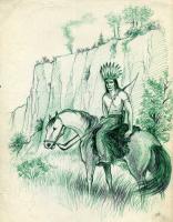 Конный индеец