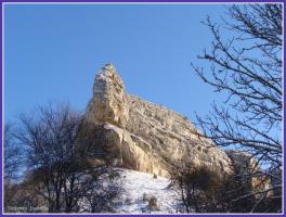 мыс  Бурунчак  (зимой)