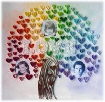 Дерево любви. Квиллинг.