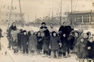 Детский сад льнокомбината. 1961 год.