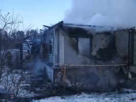 Пожар в д. Репино