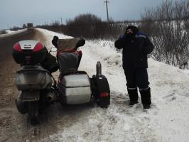Зимний мото пробег 12-16.02.14  часть 3