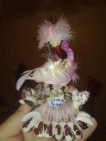 фламинго из ракушек