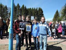 На митинге у обелиска