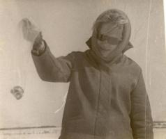На Зимней рыбалке на Волге 1968-69гг