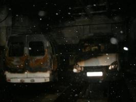 Маршрутки после пожара 13 января 2014 г.