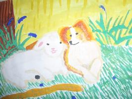 Мир глазами детей. Выставка детских рисунков на Пушкинском фестивале в пос. Лежнево.