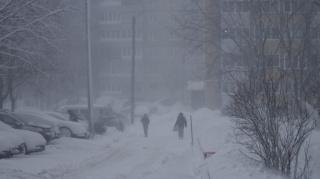 Снегопад в Че...
