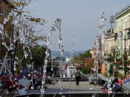 Владивостокский Арбат с фонтаном
