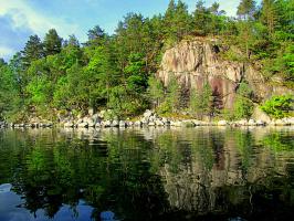 Сказочные пейзажи внутри фьорда