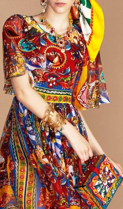 70e2e1835311 Lookbook pret-a-porter весна-лето 2016 — шикарные краски лета Dolce Gabbana.