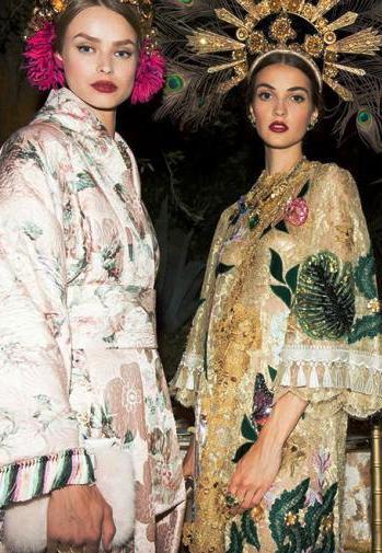 e1187f402063 Domenico Dolce и Stefano Gabbana.Alta Moda Portofino осень-зима 2015 ...