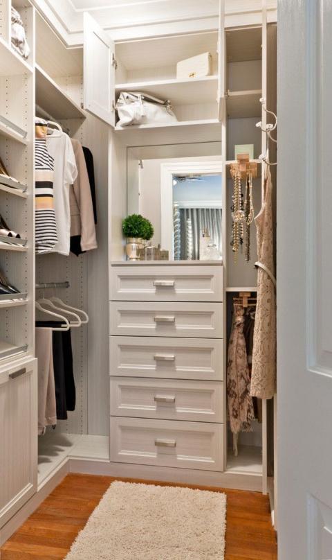 Интерьеры гардеробных