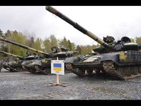 Украина выставила 50-летние советские танки против НАТО на танковом биатлоне