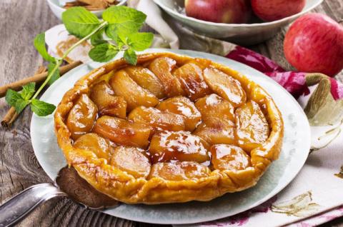 Яблочный пирог «верх ногами»